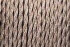 Twisted Silk Braided Vintage Fabric Coloured Lighting Cable Flex 2 core 0.75mm