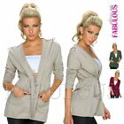 Stylish European Women's Jacket Hoodie Short Coat Outerwear Size 8 10 12 S M L
