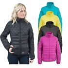 Trespass Ollo Womens Down Jacket Padded and Warm in Black Blue & Purple