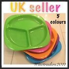 kids toddler baby babies divided feeding dinner plate 5 colours Dividing Plates