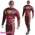 Licensed Mens The Flash 2 Costume Muscle Justice League DC Comics Fancy Dress