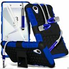 Shock Proof Dual Layer Heavy Duty Case Cover+Stereo Headphones for Sony