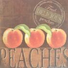 "KM5524 Delicious Peaches Kathy Middlebrook 6""x6"" framed or unframed print art"