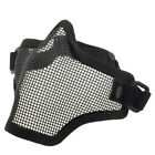 Paintball Airsoft Half Face Mask Metal Mesh Skull Mask Tactical Protection