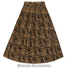 RKB43 Lindy Bop Tippi Leopard Circle Swing Rockabilly Pin Up Vintage Dance Skirt