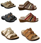 Ladies Womens MID Wedge Heel Slip On Summer Beach Mules Sandals Shoes Size UK3-8