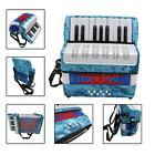 Mini Small 17-Key 8 Bass Accordion Educational Musical Instrument Toy A1O0