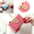 Women Credit Card Holder Maple Leaf Leather Wallet ID Holder Lady Clutch Handbag