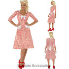 CL757 WW2 Sweetheart Housewife 40s 1940's Wartime Rockabilly Fancy Dress Costume