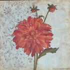 "ST7330 Red Flower Stephanie Marrott 6""x6"" framed or unframed print art"
