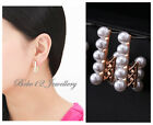 Pearl Stud Earring/White gold/Rose Gold/RGE476