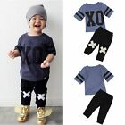 2pcs Toddler Kids Baby Boy T-shirt Tops+Long Pants Trousers Outfits Clothes Sets