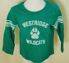 BABY GAP Boy's Green WESTRIDGE WILDCATS Long Sleeve Tee Shirt 6-12 M
