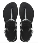 Havaianas Women`s Flip Flops Sexy Freedom Sandal Black Graphite Any Size NWT