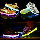 LED USB Light Up Chaussures charge Glow Chaussures Sneakers clignotant lumineux