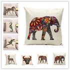 Ethnic Style Colorful Animals Pattern Cotton Linen Pillowcase Sofa Cushion Cover