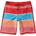 "RVCA SUNDAY STRIPE 19"" Mens Boardshorts Size 32 NEW"