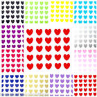 25 X Heart Vinyl Stickers - Glitter Wine Glass Walls Mirrors Mug Laptop Cup
