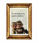 UP PRINT POSTER PICTURE PHOTO DICTIONARY WALL ART DISNEY CARL AND ELLIE