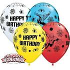 SPIDERMAN 'HAPPY BIRTHDAY' BALLOONS -Choose quantity CHILDRENS PARTY DECORATIONS