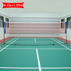 Купить NEW 3m or 4m Adjustable Foldable Badminton Tennis Volleyball Net W/ Free Stand