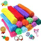 20/100pcs Chenille Stems Pipe Cleaners Kids Craft Educational Toys Twist Rods