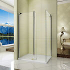 L Shape Walk in Wet Room Shower Enclosure Cubicle Fixed Return Panel Tray Waste