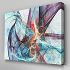 AB1041 Modern Blue Psychedelic Canvas Wall Art Abstract Picture Large Print