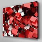 AB837 Modern red black white block Canvas Wall Art Abstract Picture Large Print