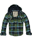 SALE$128 MENS CALI HOLI SLIM QUILTED LINED FLANNEL HOODED JACKET GREEN 9826033