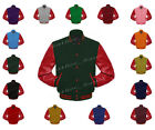 Faux  Leather Sleeve Letterman College Varsity Men Wool Jackets #RSL-RSTR-RB