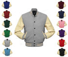 Faux Leather Sleeve Letterman College Varsity Women Wool Jack #CRS-CRS-BB-FL