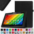 Folio Vegan Leather Case Stand Cover for Astro Tab A10 10 Inch Android Tablet