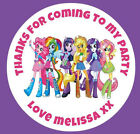 48 Personalised Equestria My Little Pony Birthday Party Stickers Sweet Bags 40mm