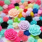 11 Colors  Wholesale Gorgeous Rose Flower Coral Resin Spacer Beads10mm 12mm 15mm
