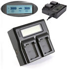 LCD Screen Dual Battery Charger For Sony NP-FW50 A7 R S II A5000 A6000 A6300 NEX