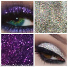 Glitter Eyes - Duo Silver & Violet Holo Eye Shadow Fixing gel Long Lasting