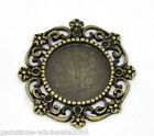 Wholesale Lots Bronze Tone Round Cameo Frame Settings 27x27mm