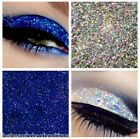Glitter Eyes - Duo Silver & Blue Holographic Eye Shadow Fixing gel Long Lasting