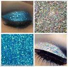 Glitter Eyes - Duo Silver & Aqua Holographic Eye Shadow Fixing gel Long Lasting