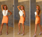 Womens New Sexy Apricot Elastic Luxe Pencil Mini Bandage Skirt Hot