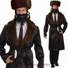 CL836 Black Rabbi Jewish Religious Coat Tails Fancy Dress Mens Costume Outfit