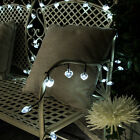 50 OR 100 LED, 5M OR 10M SOLAR POWER OUTDOOR GARDEN PARTY HEART FAIRY LIGHTS
