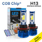 2016 New 120W 10000LM H13 LED Headlight Kit 9008 LED Bulb COB Head Lamp 3 Colors