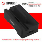 ORICO 3-Port USB 3.0 Hub 2-Port 1A/2.4A Mobile Phone Charging Station Stand Dock