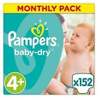 Pampers Nappies Baby New Dry Size 3, 4, 4+, 5, 5+, 6 Monthly SUPER SAVING PACK