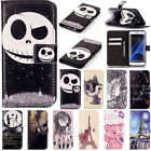 Hybrid Filp Leather Patterned Wallet Card Stand Case Cover For Samsung Galaxy