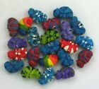 Chameleon Ceramic Beads, Assorted Colors, Choice of Lot Size & Price
