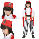 Pirate Costumes Kids Fancy Costume Halloween Deluxe Outfit Hat Girls Cosplay New