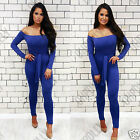 Womens Petite Long Sleeve Sexy Bodycon Jumpsuit with Tie Wist